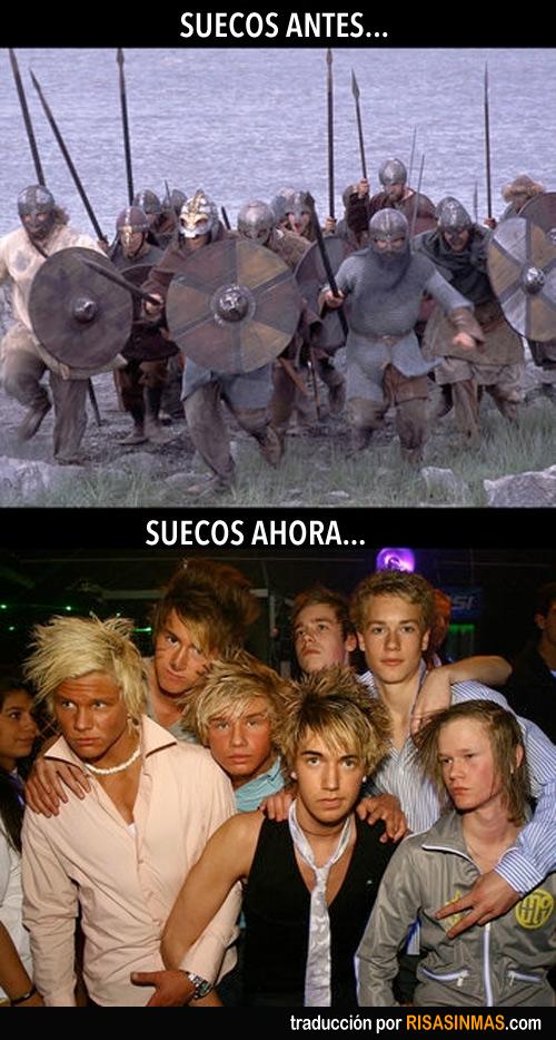 Suecos antes y ahora