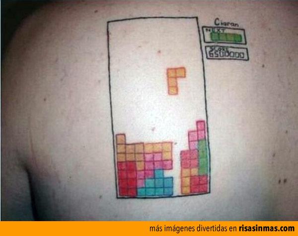 Tatuarse su record de Tetris