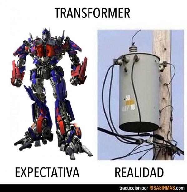 Expectativa vs realidad: Transformer