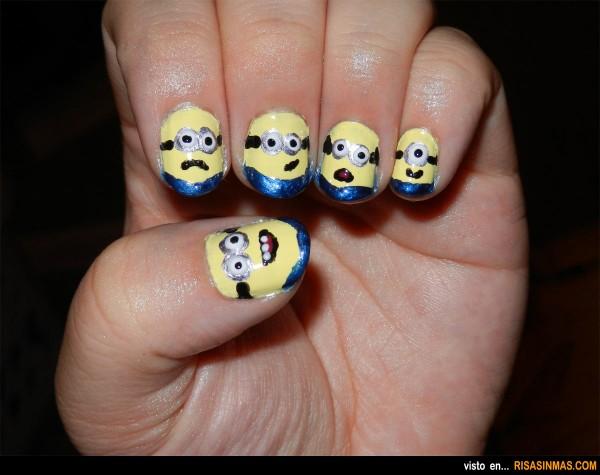Uñas originales: Minions