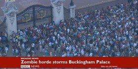 Horda de zombies en Buckingham Palace