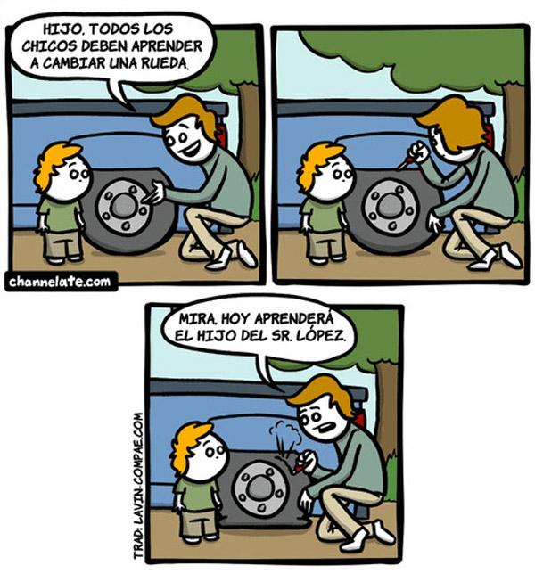 Aprender a cambiar una rueda