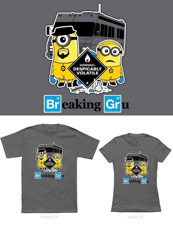 Camisetas Minions: Breaking Gru