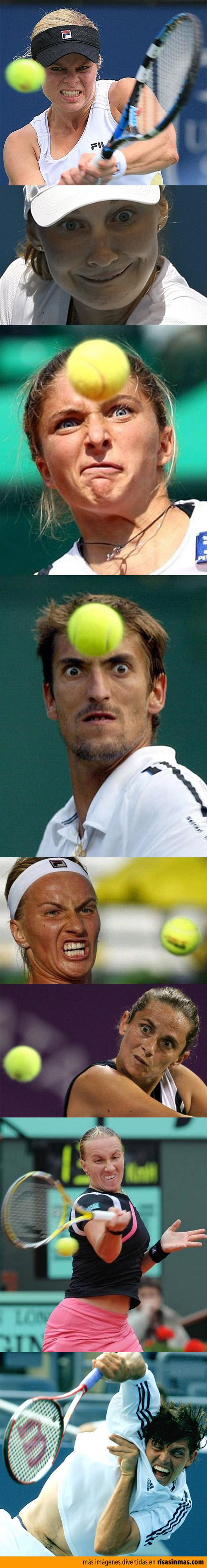 Caras de tenis