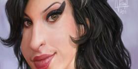 Caricatura de Amy Winehouse