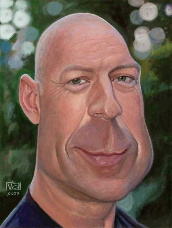 Caricatura de Bruce Willis