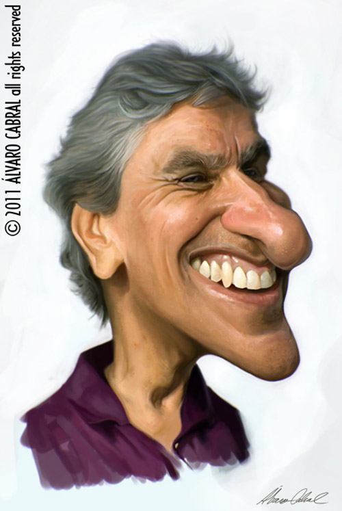 Caricatura de Caetano Veloso