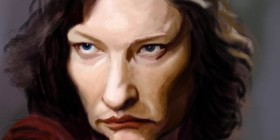 Caricatura de Cate Blanchett