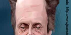 Caricatura de Christopher Walken