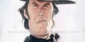 Caricatura de Clint Eastwood