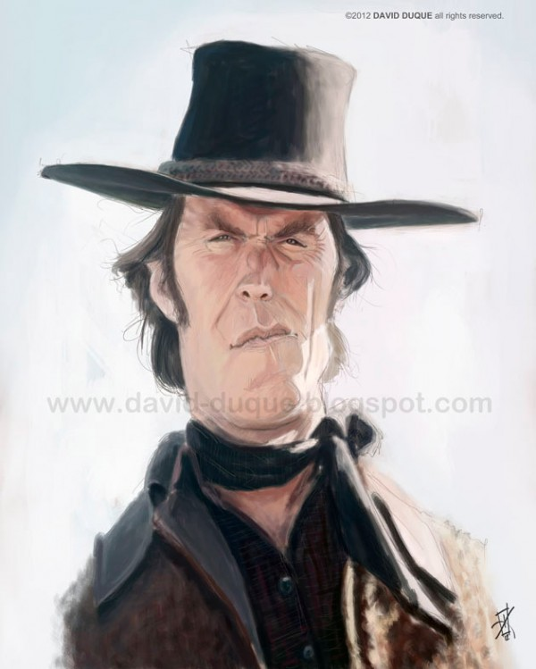 Caricatura de clint eastwood - David s salon eastwood ...