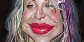 Caricatura de Courtney Love