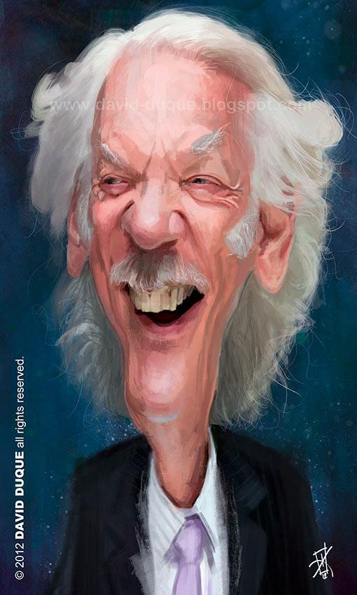 Caricatura de Donald Sutherland