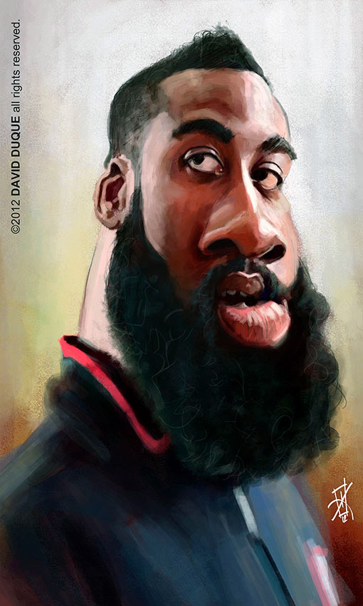 Caricatura de James Harden
