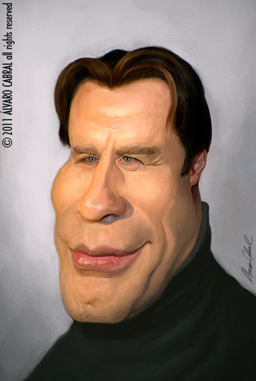 Caricatura de John Travolta
