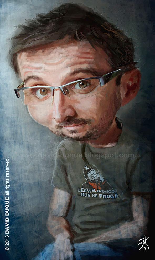 Caricatura de Jordi Evole