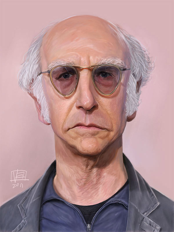 Caricatura de Larry David