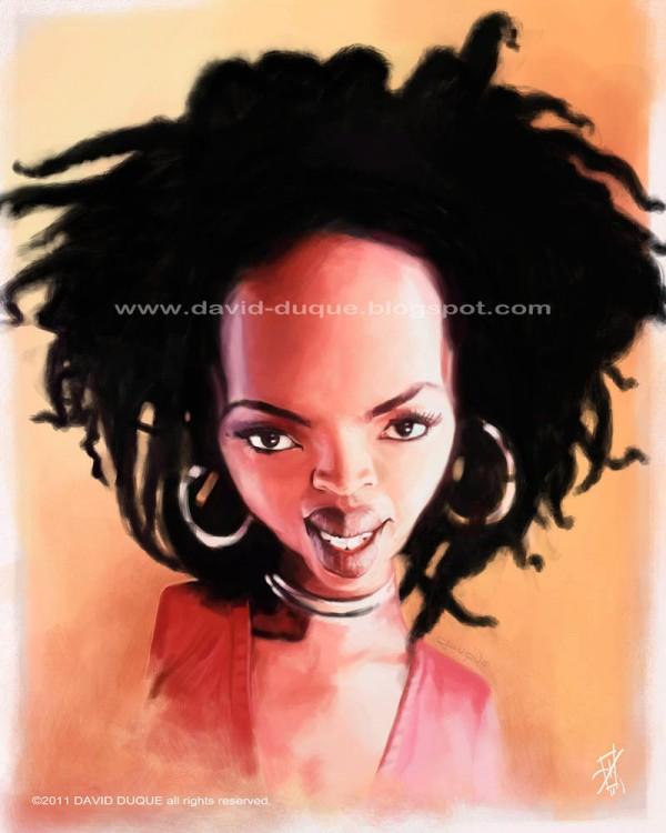 Caricatura de Lauryn Hill
