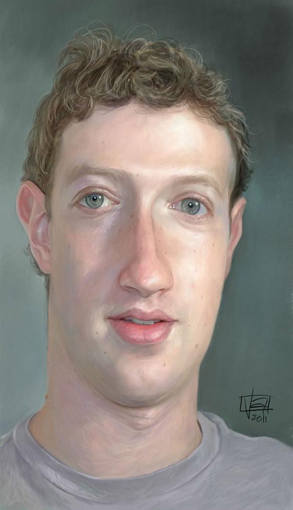 Caricatura de Mark Zuckerberg