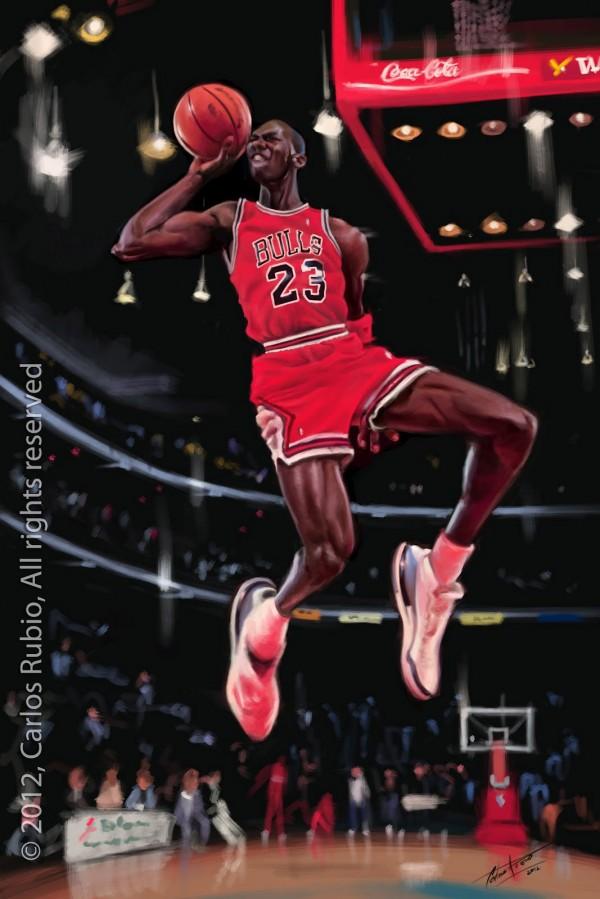 Caricatura de Michael Jordan