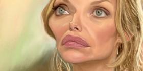 Caricatura de Michelle Pfeiffer