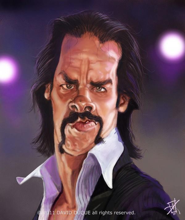 Caricatura de Nick Cave