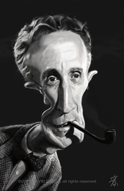 Caricatura de Norman Rockwell