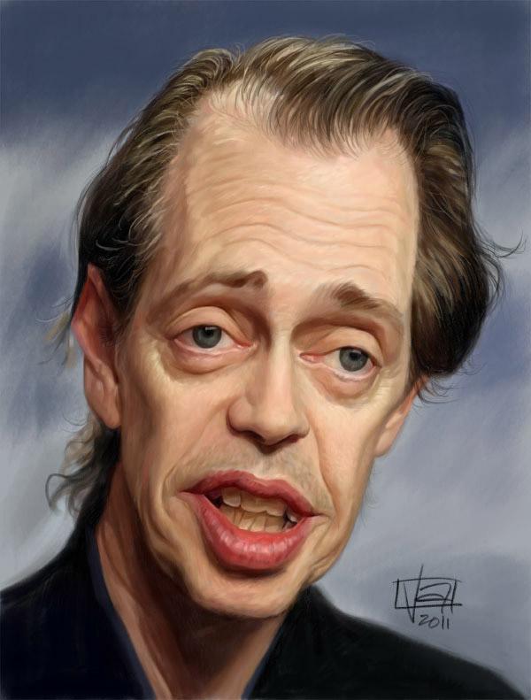 Caricatura de Steve Buscemi
