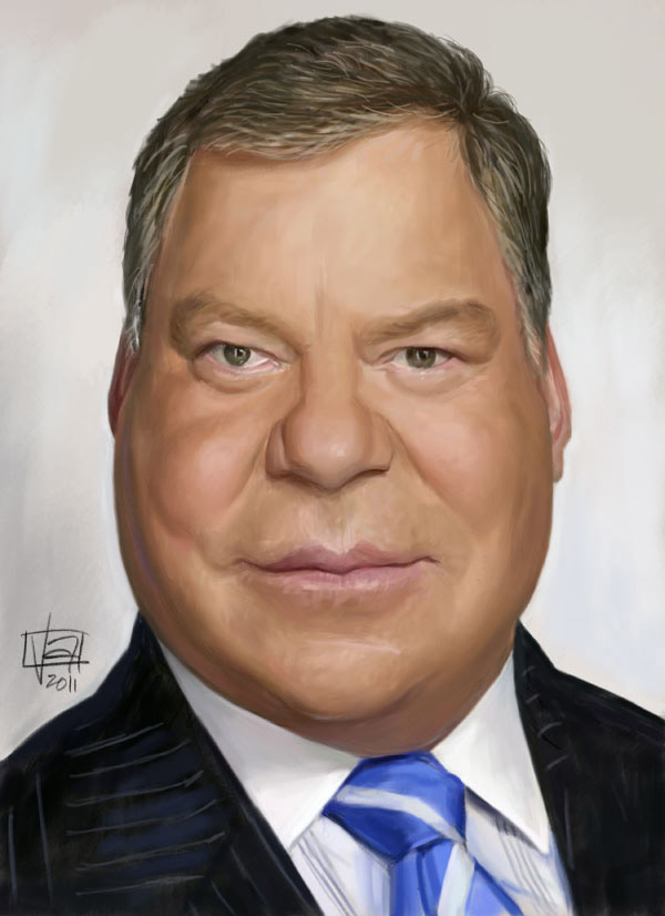 Caricatura de William Shatner