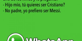 Chistes de WhatsApp: ¿Cristiano o Messi?