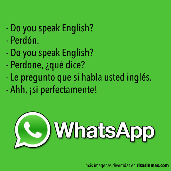 Chistes de WhatsApp: Idiomas