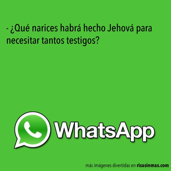 Chistes de WhatsApp: Jehová