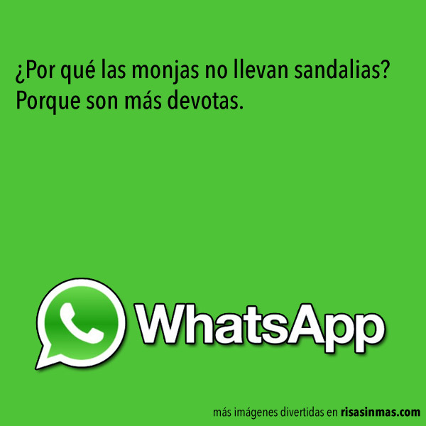 Chistes de WhatsApp: Monjas