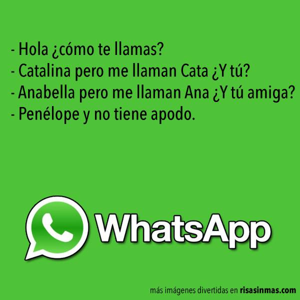 Chistes de WhatsApp: Nombres y apodos