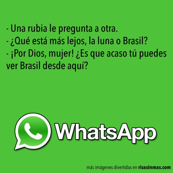 Chistes de WhatsApp: Rubias