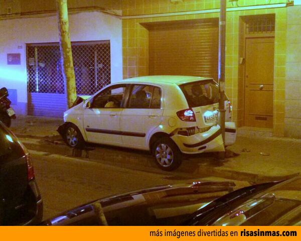 ¿Cómo ha metido el coche ahí?
