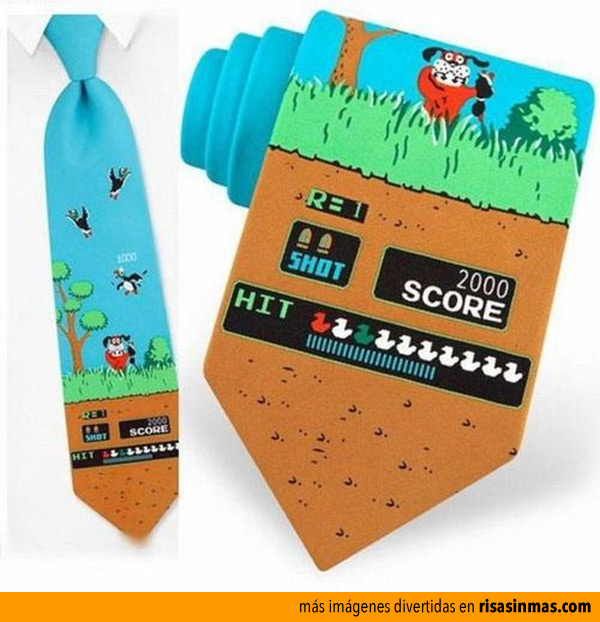 Corbatas para gamers: Duck Hunt