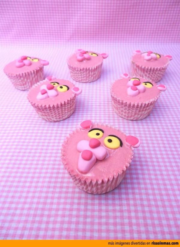 Cupcakes originales: La Pantera Rosa