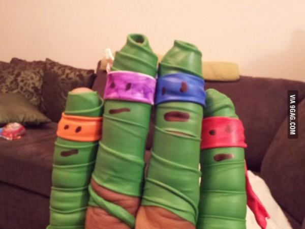 Dedos Tortugas Ninja
