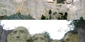El Monte Rushmore hecho con LEGO