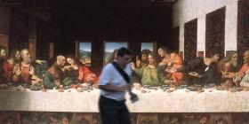 El arruina fotos en La Última cena