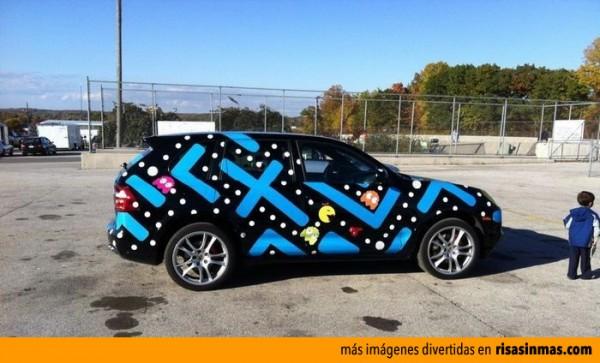 El coche de un fanático de Pac-Man