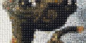 Fotogramas de películas hechas con teclas y botones: E.T.