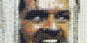 Fotogramas de películas hechas con teclas y botones: Jack en El resplandor