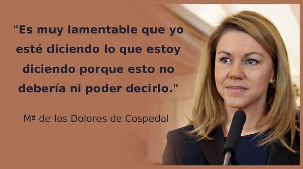 Frases de política: María Dolores de Cospedal