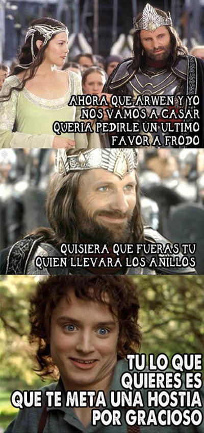 Frodo encargado de los anillos