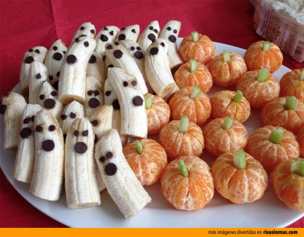 Frutas de postre para Halloween