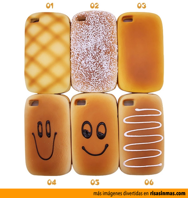 Fundas iPhone divertidas: Panes y bollos