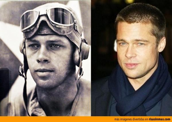 Parecidos razonables: George Ashmun y Brad Pitt