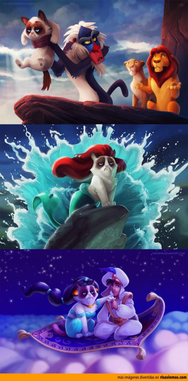 Grumpy cat en películas de Disney
